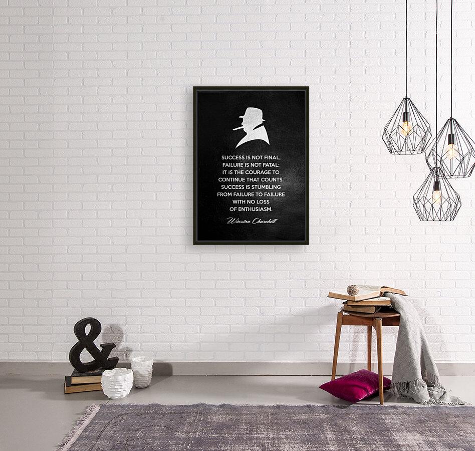 Winston Churchill Motivational Wall Art  Art