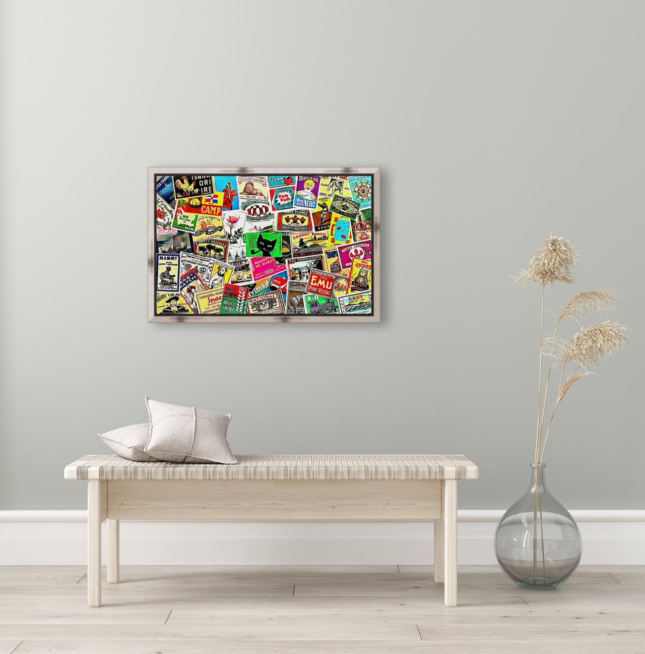 Matchbox Label Collage  Art