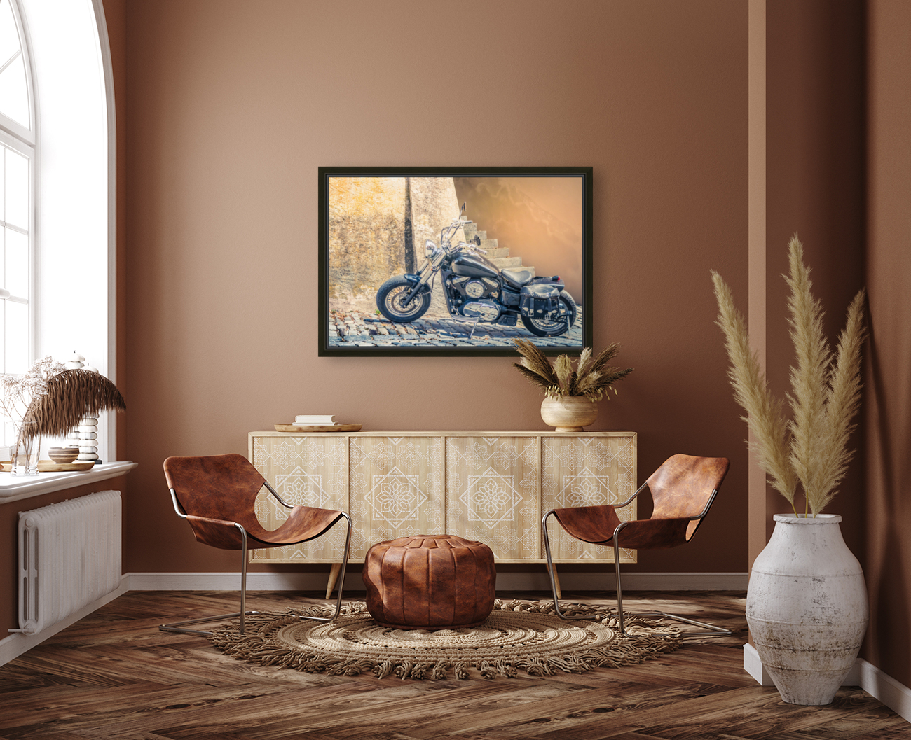 Chopper cruiser motorbike  Art