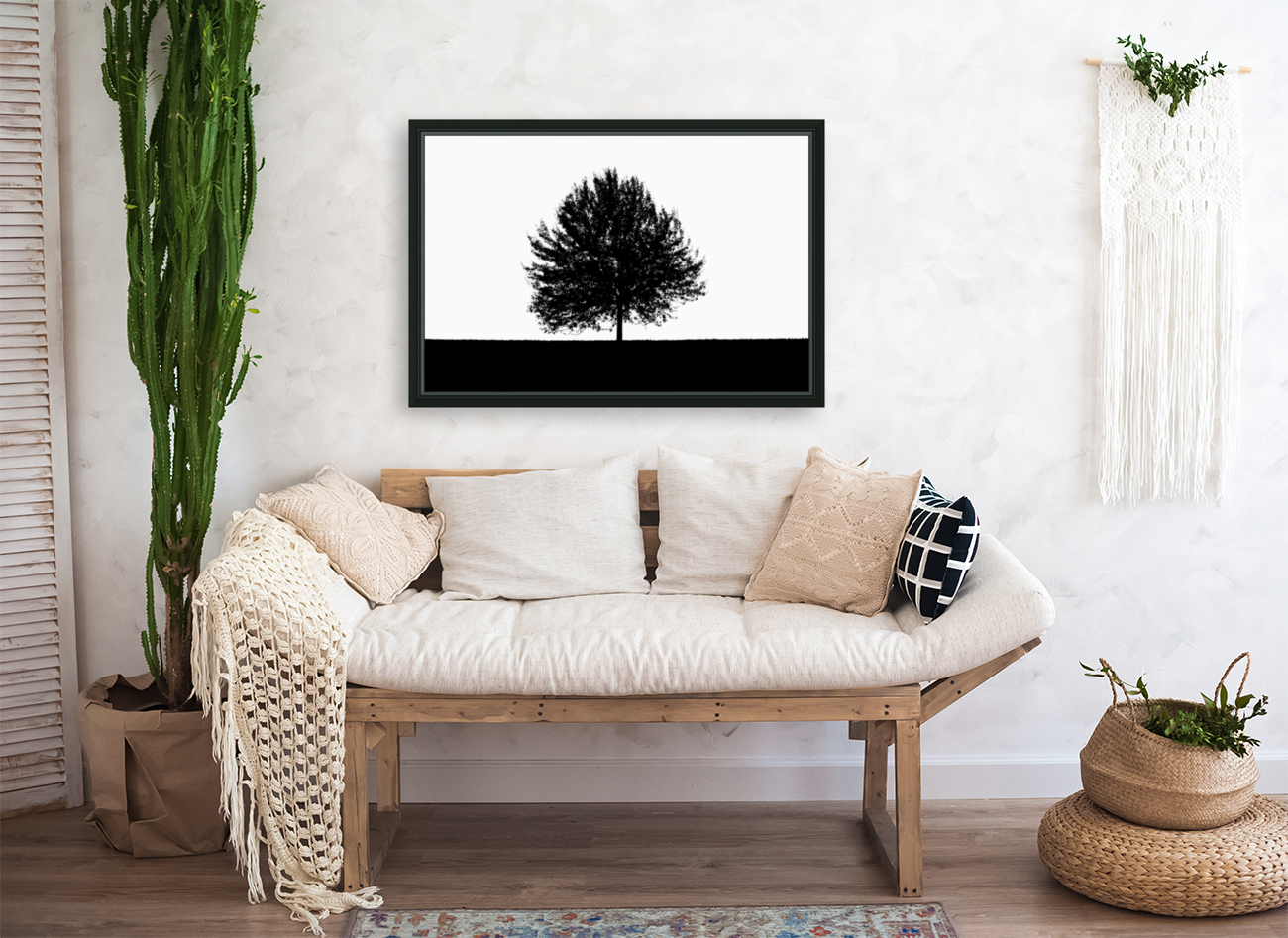 Silhouette of a lonely tree  Art