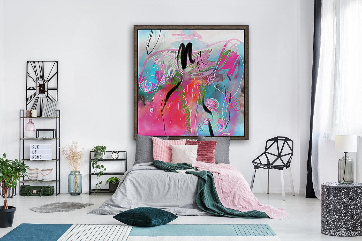 Summer Resort Abstract   Art