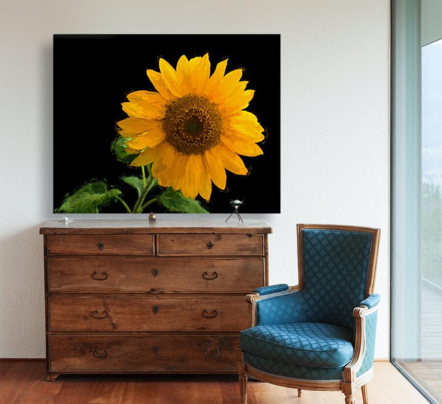 Solitary Sunflower  Art