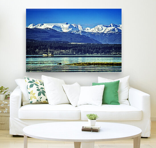 Comox Glacier and Herring Boat  Art