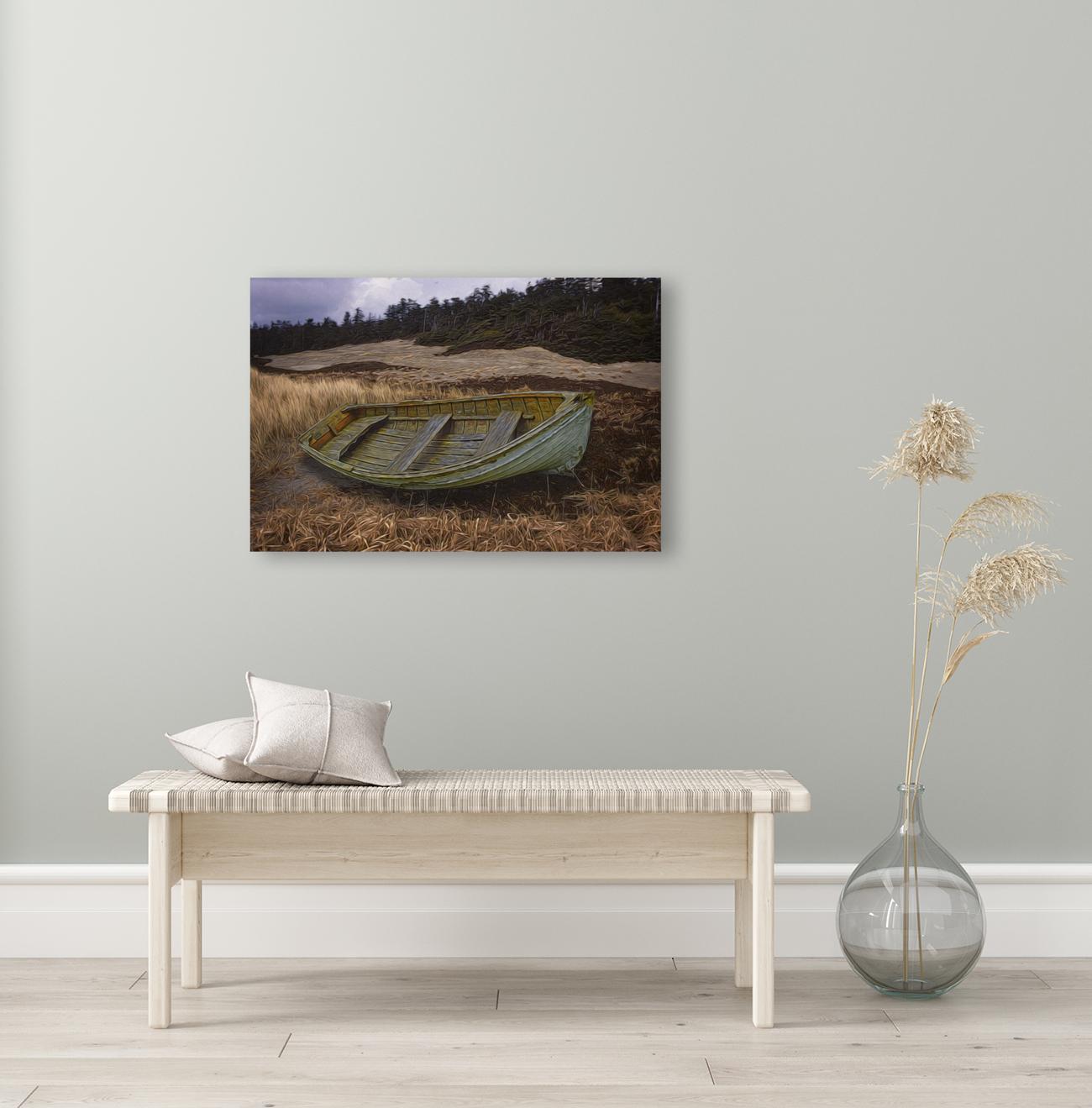 Clinker-built Rowboat  Art