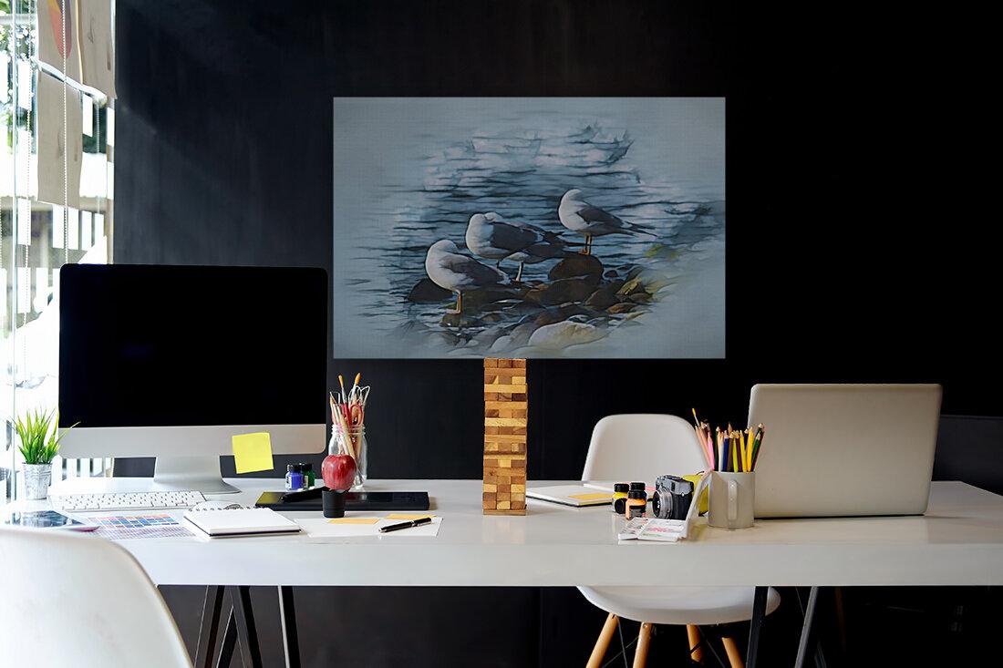 Preening Gulls  Art