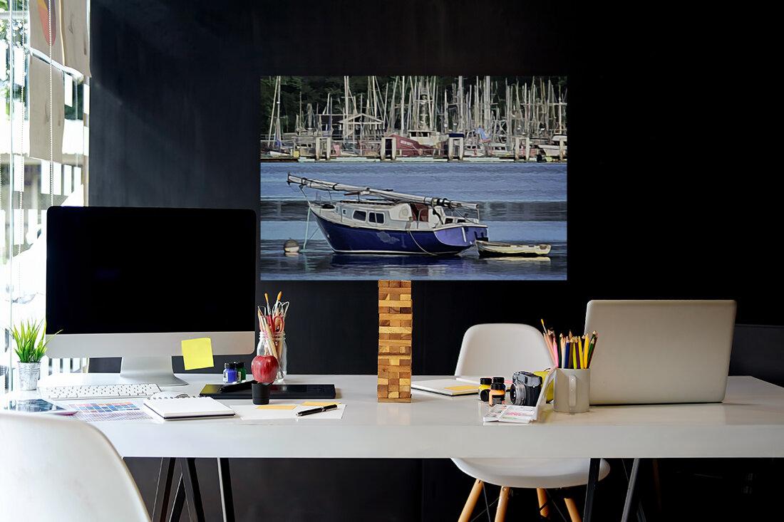 Resting in the Harbor  Art