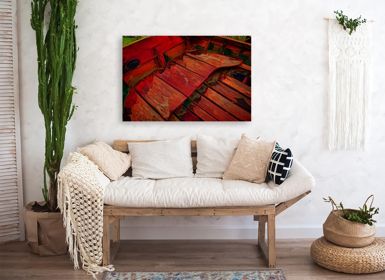 Rowboat Abstract  Art
