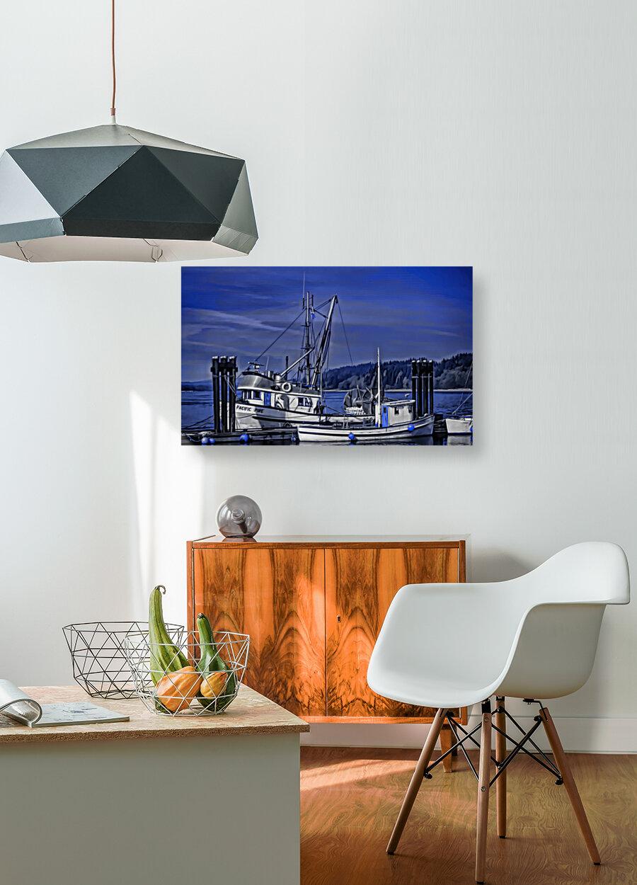 Fishing Boats at the Dock  Art