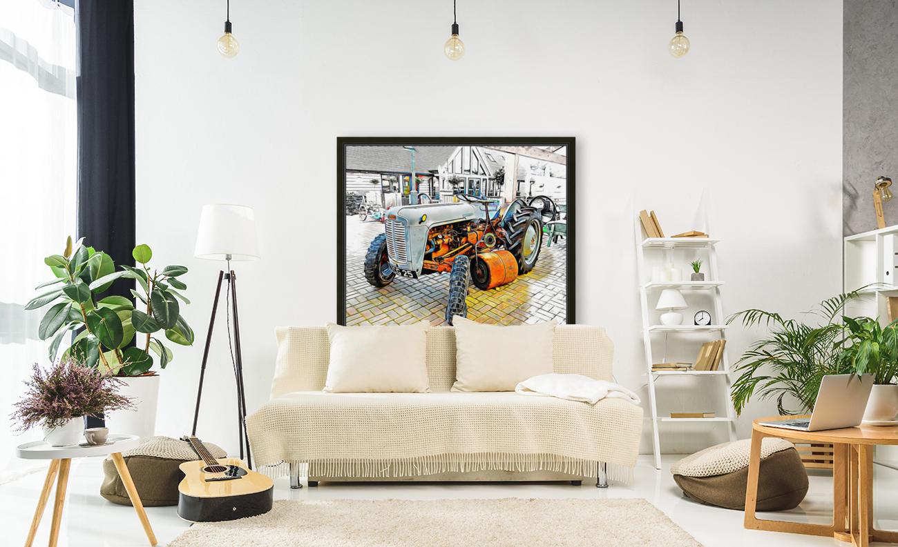 Ferguson Tractor and Hand Roller  Art