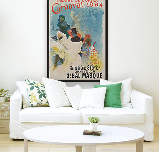 Theatre de Opera Carnaval 1894 original poster with Floating Frame