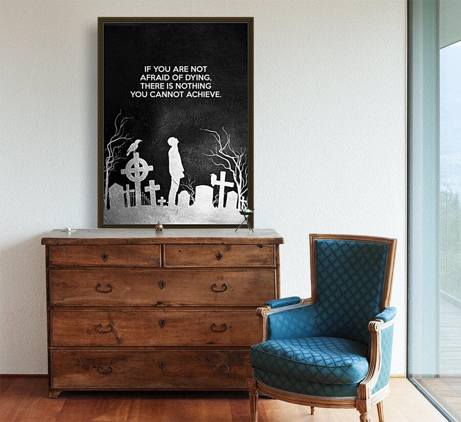 Laugh at Death Motivational Wall Art  Art