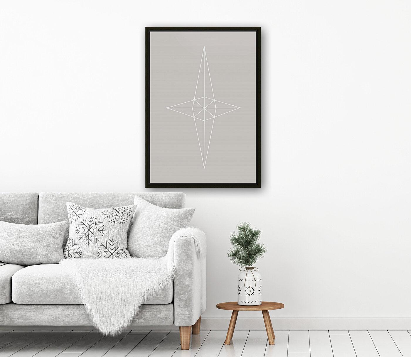 Grid Star Grey  Art