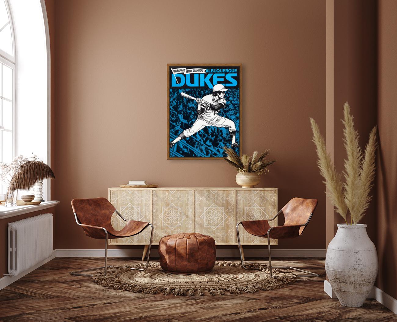 1973 Albuquerque Dukes Baseball  Poster  Art