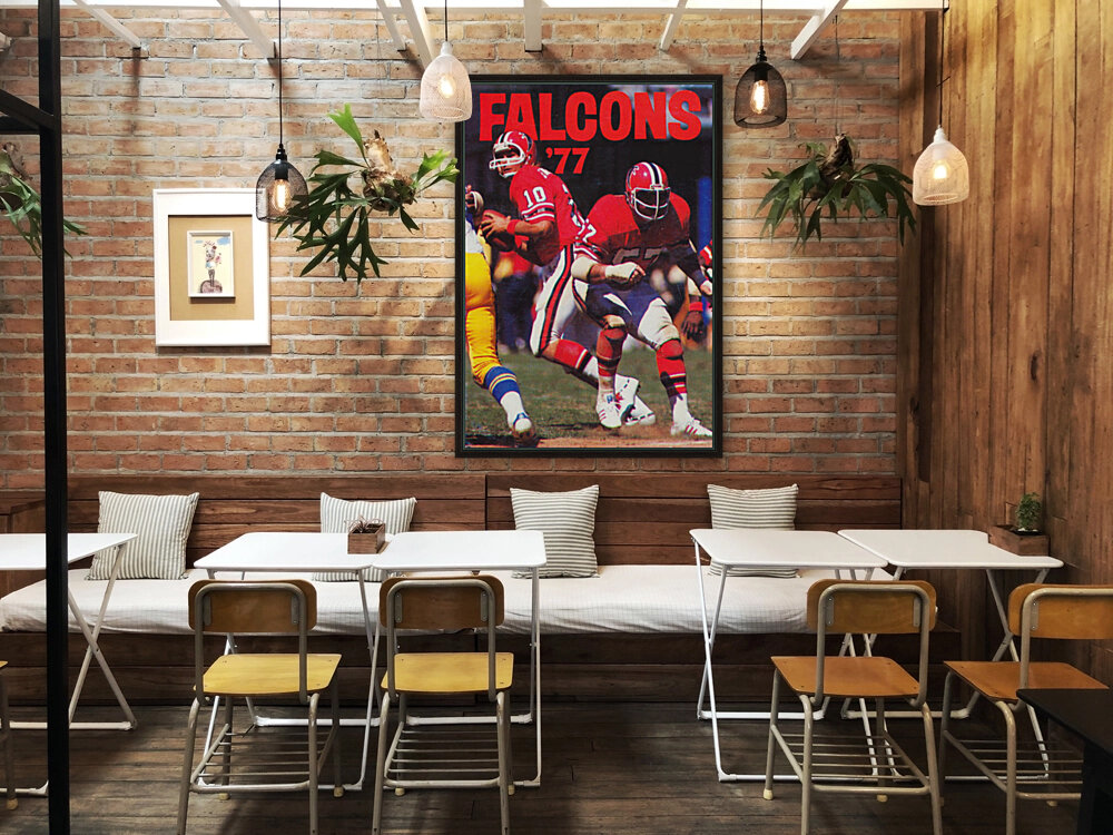 1977 Atlanta Falcons Retro Football Poster  Art