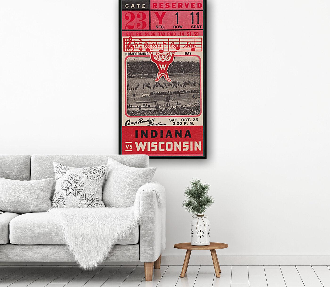 1941 Wisconsin vs. Indiana  Art