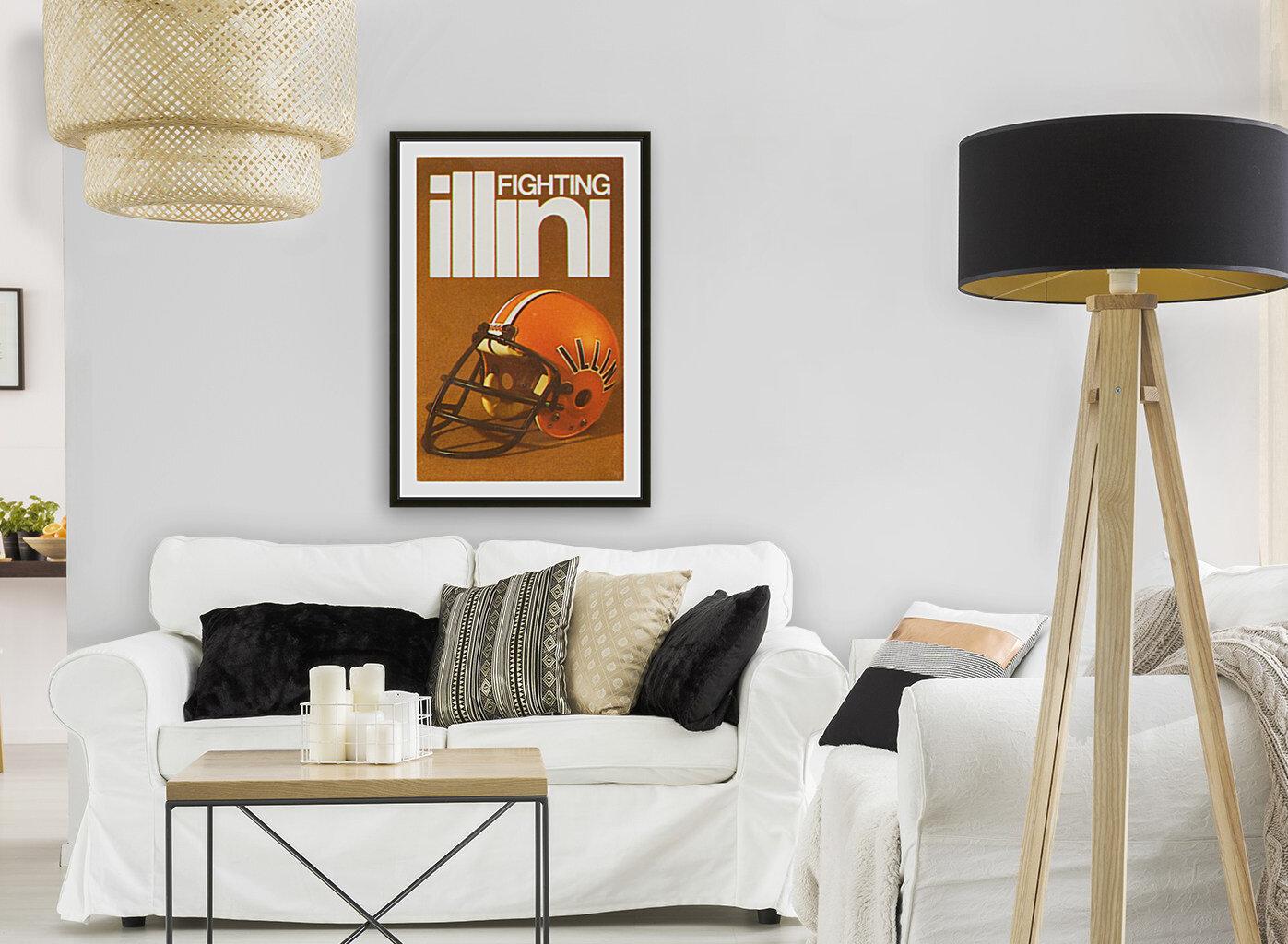 1980 Illinois Illini Football Poster  Art