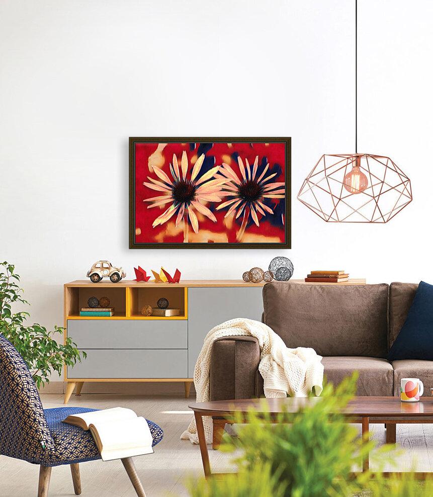 Two Coneflowers  Art