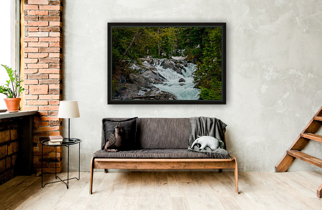 Wild Water in the Mountains  Art