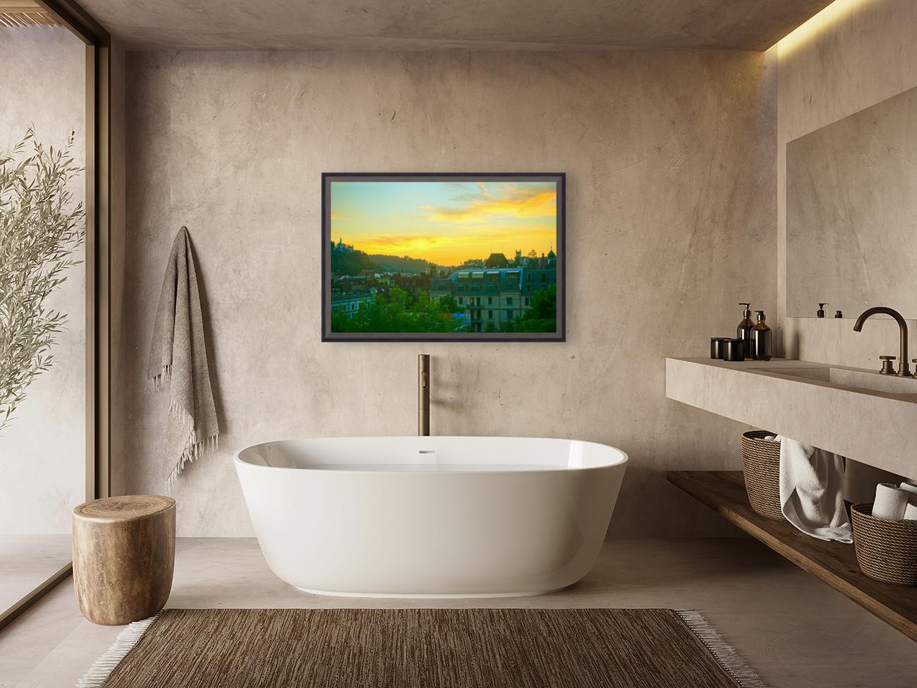 Sunset over Lucerne Switzerland  Art