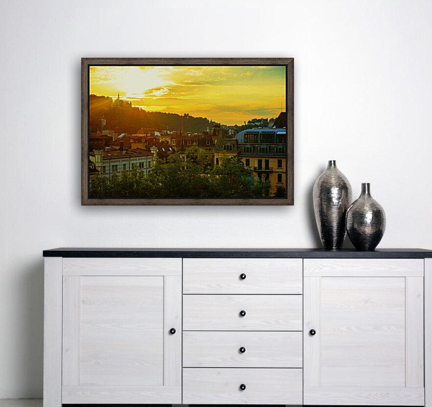 Summer Sunset over Lucerne Switzerland  Art