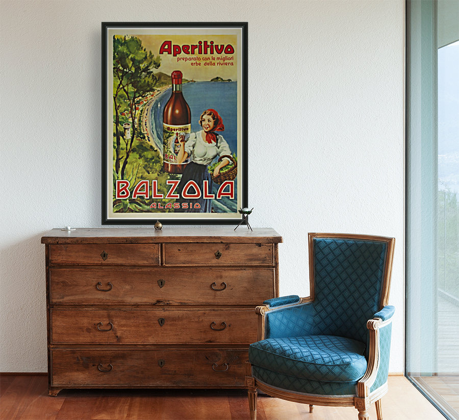 Aperitivo Balzola Original Poster with Floating Frame