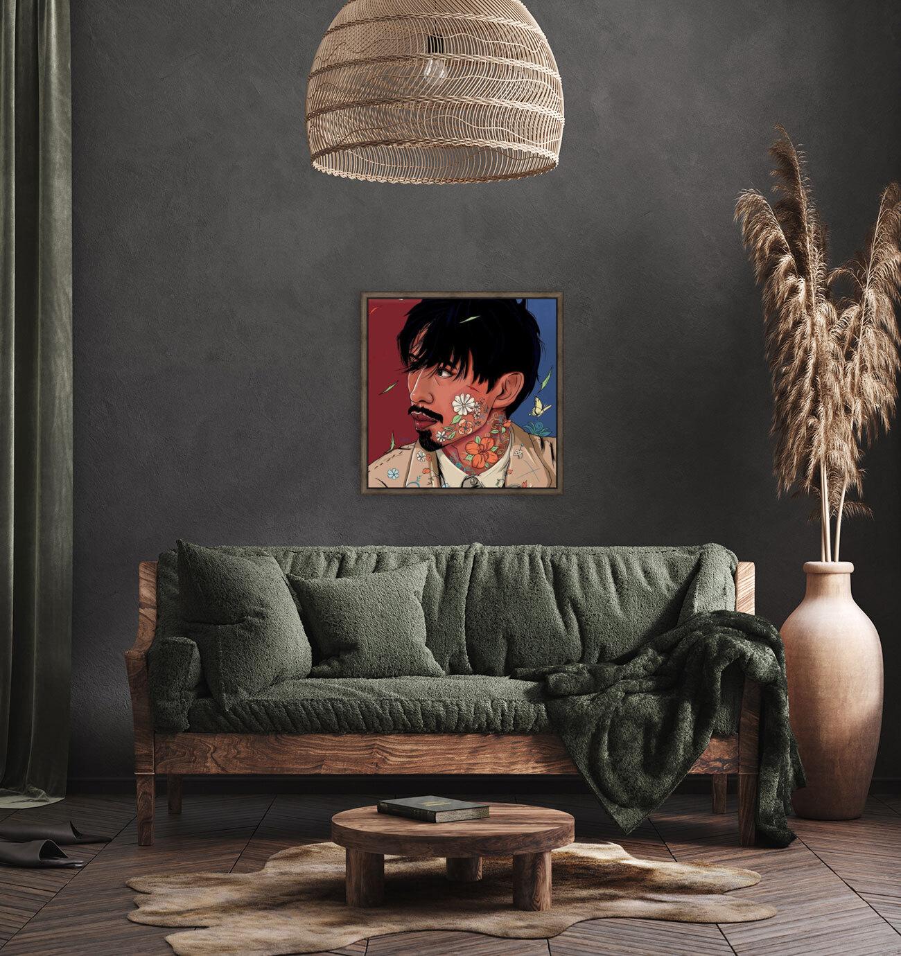 Portrait Painting In The MV Hide and Seek  Art