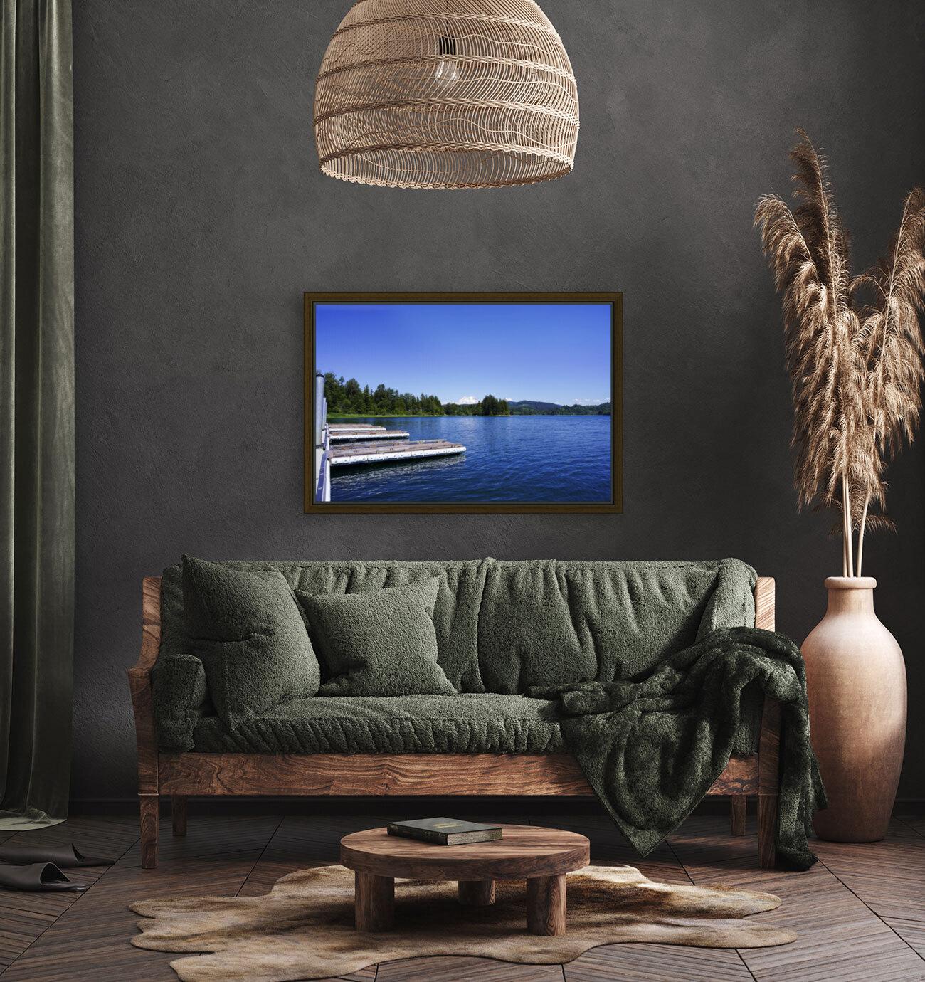 Alder Lake and Mount Rainier Pacific Northwest United States  Art