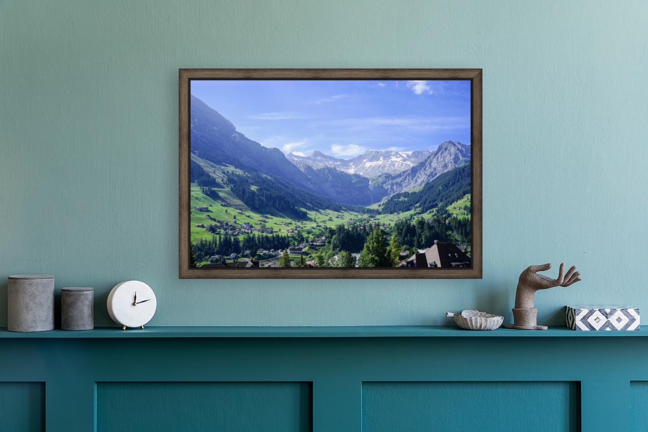Blue Skies over the Alps in Adelboden Switzerland  Art