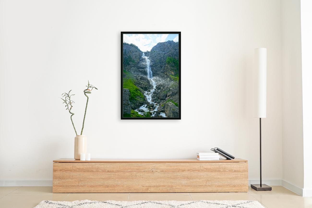 Engstligen Falls Adelboden Switzerland in the Bernese Highlands  Art