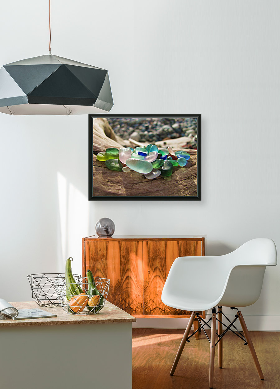 Sea Glass Colors with Floating Frame