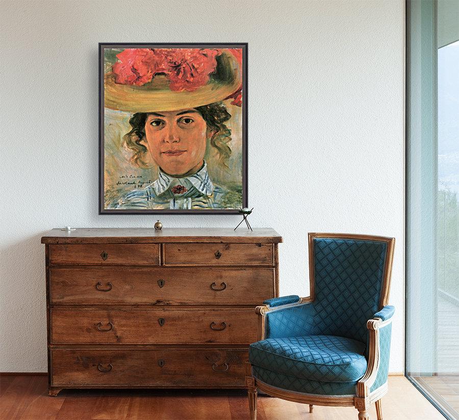 Womens Half-portrait with straw hat by Lovis Corinth  Art
