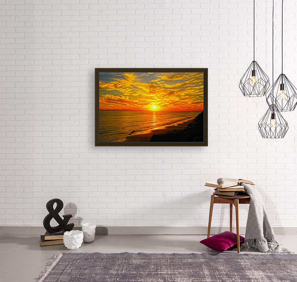 Sunset over Catalina Island in Newport Beach California  Art