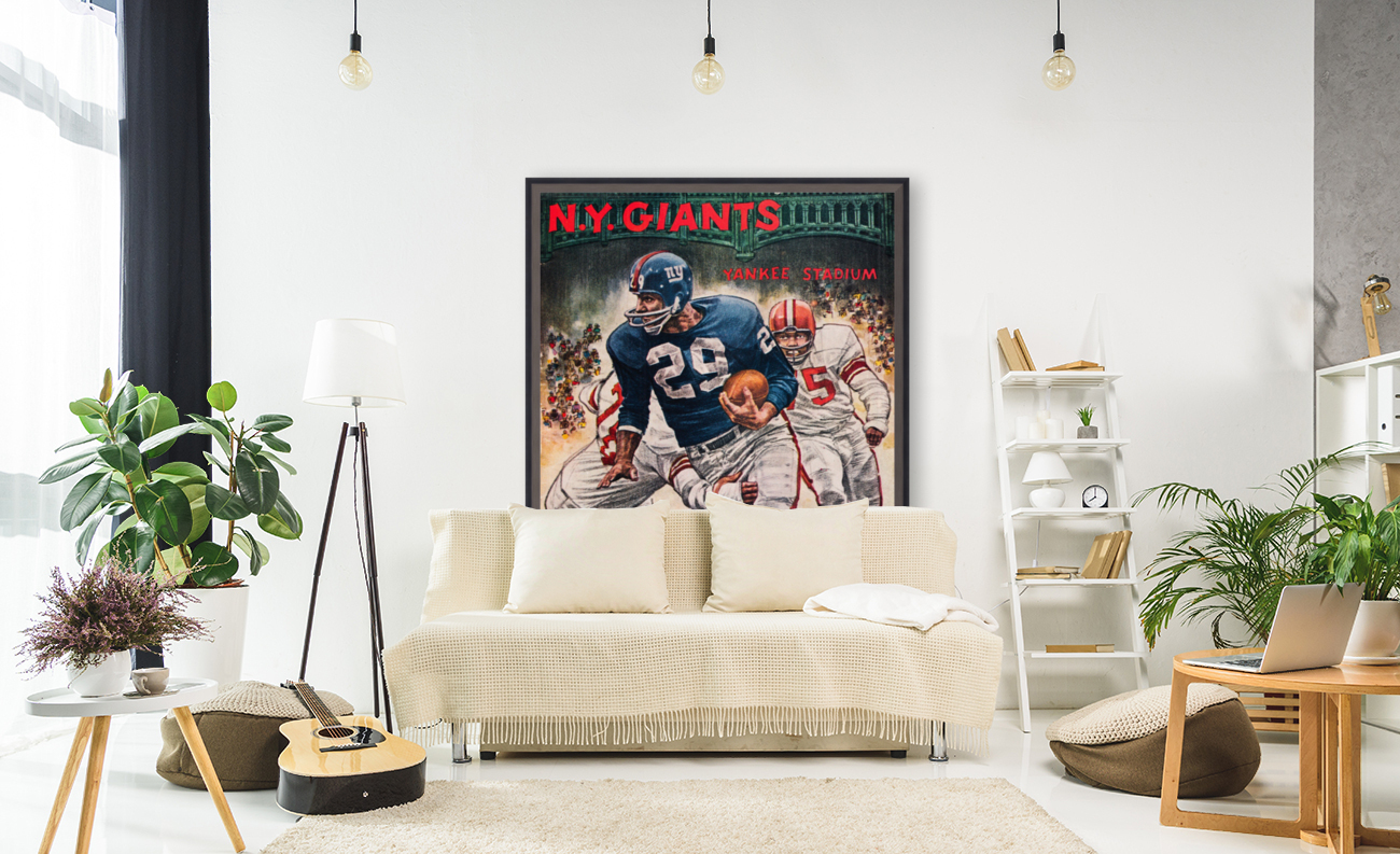 1962 Robert Riger New York Giants Art  Art