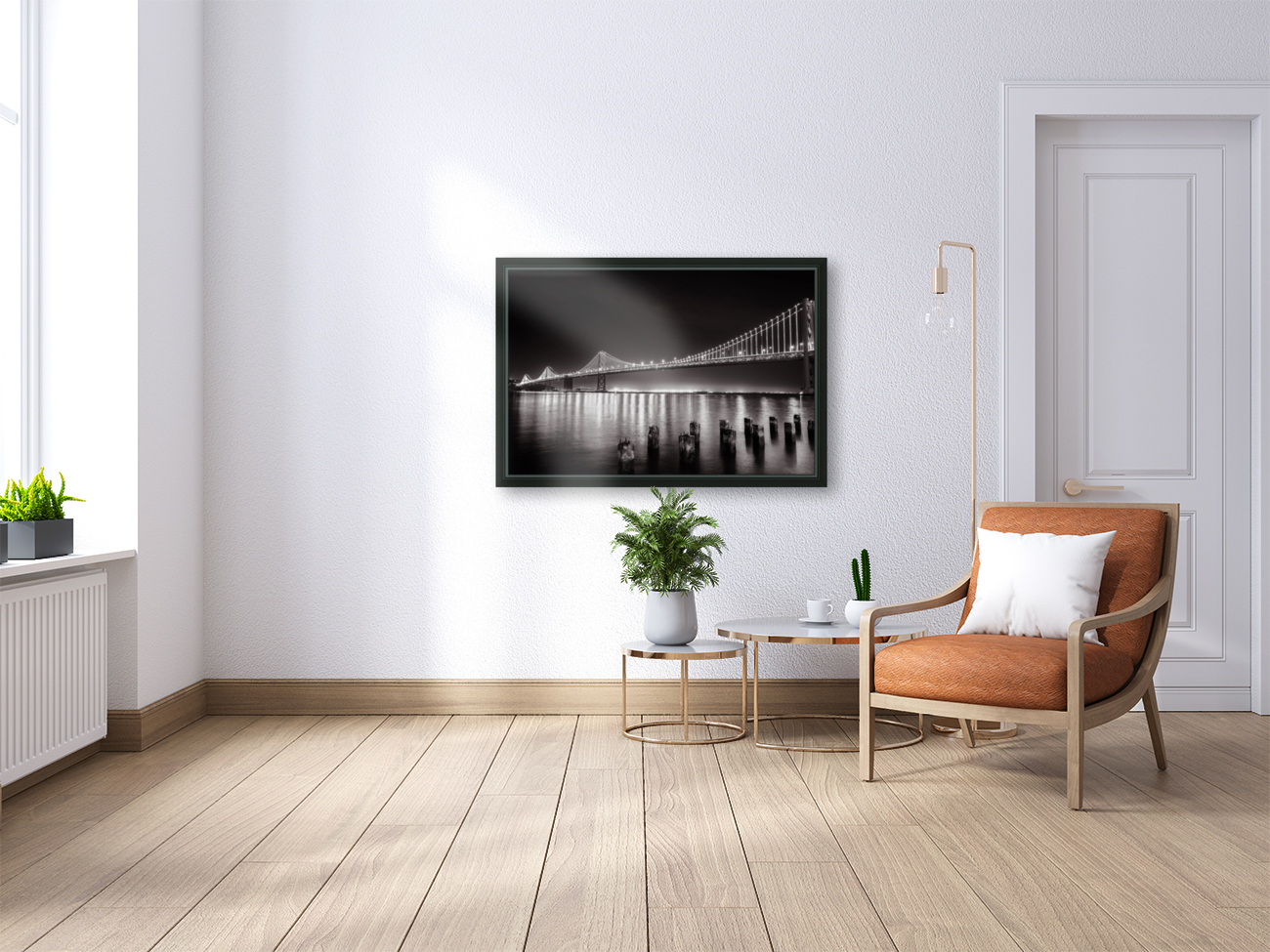 Bay Bridge Black & White  Art