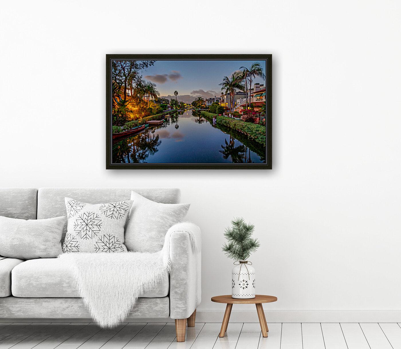 Venice Canal At Twilight  Art