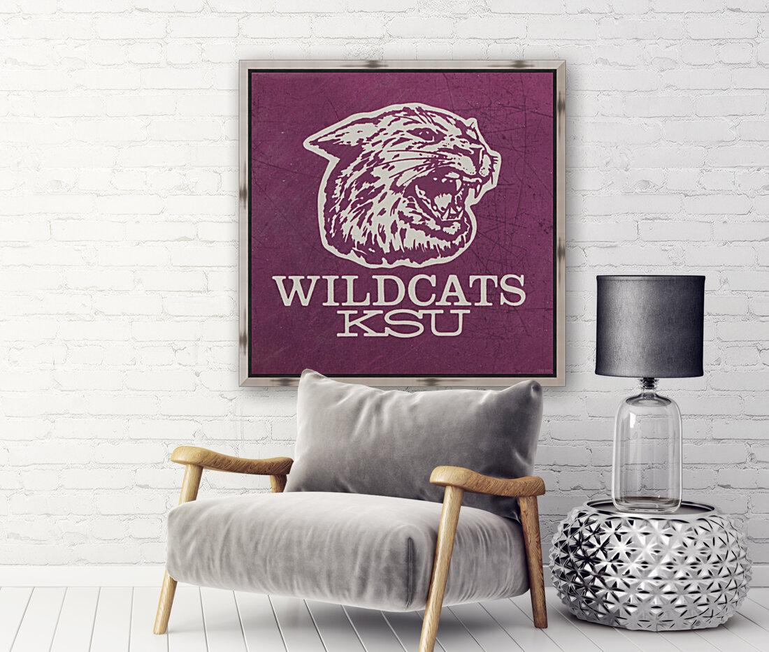 Retro Eighties KSU Wildcats Art  Art