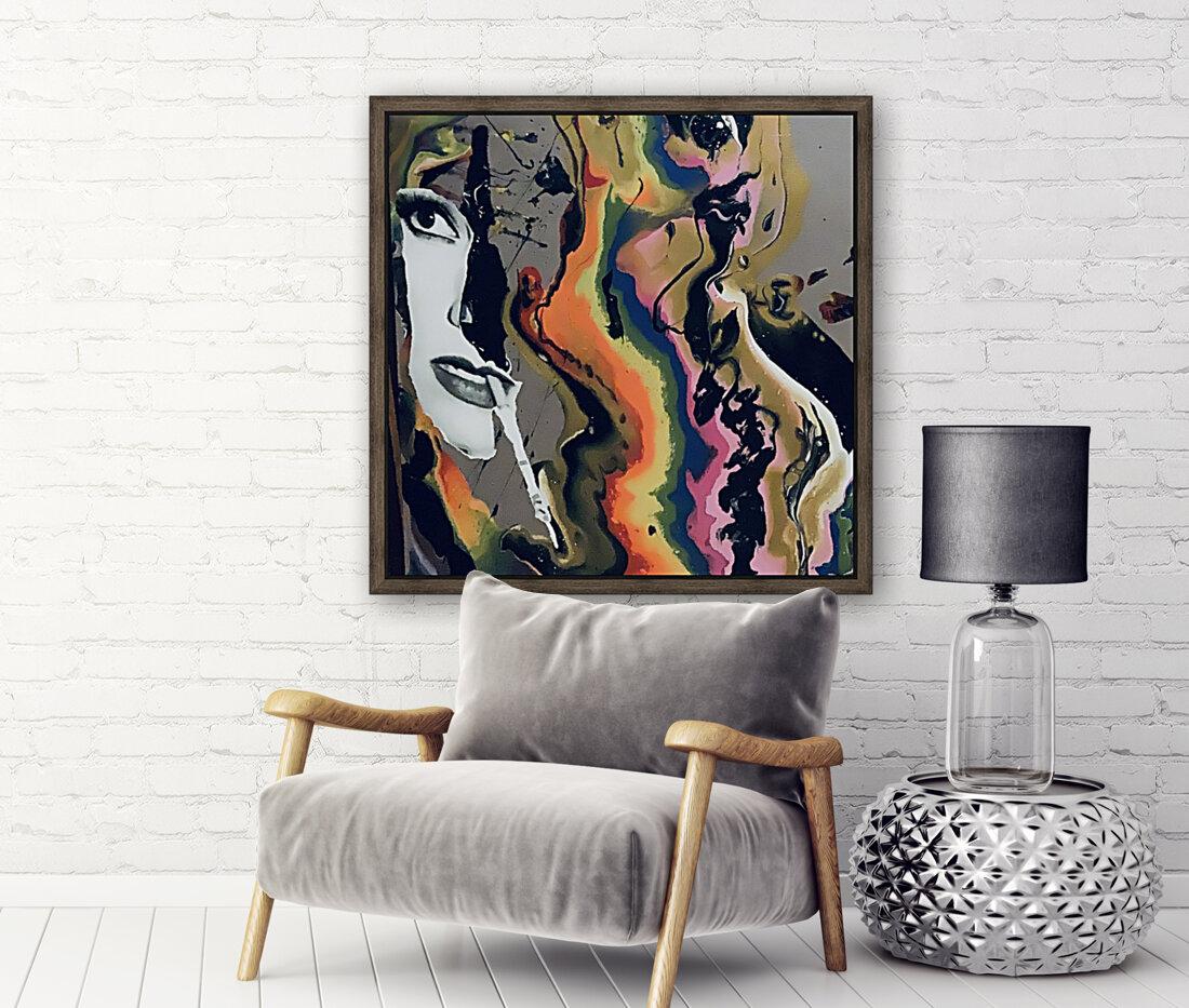 One in Vermillion  Art