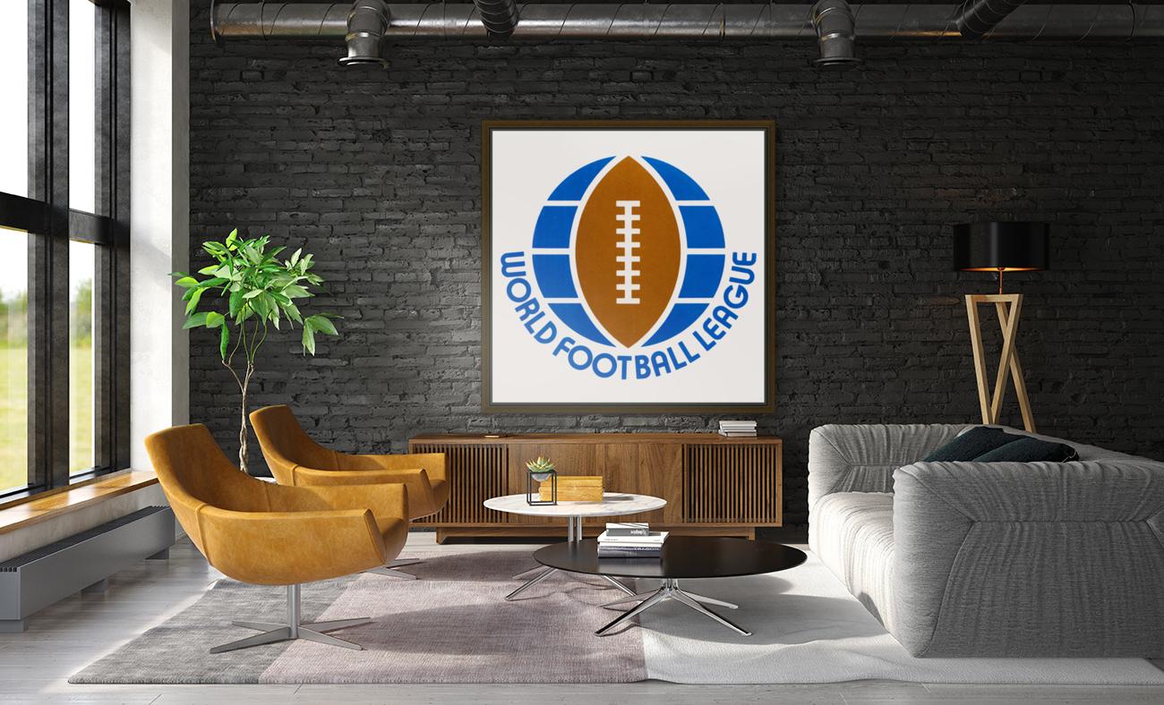 1974 World Football League Logo Art  Art