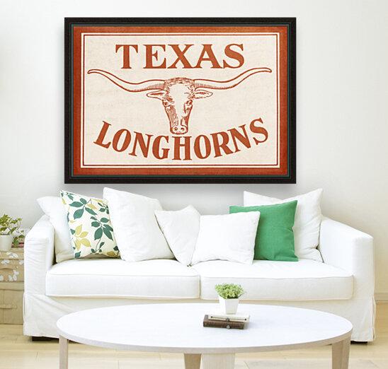 Historic Texas Longhorns Art  Art