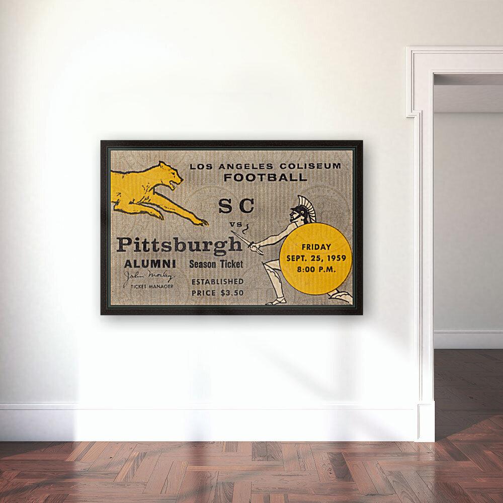 1959 Pittsburgh Panthers vs. USC Trojans  Art