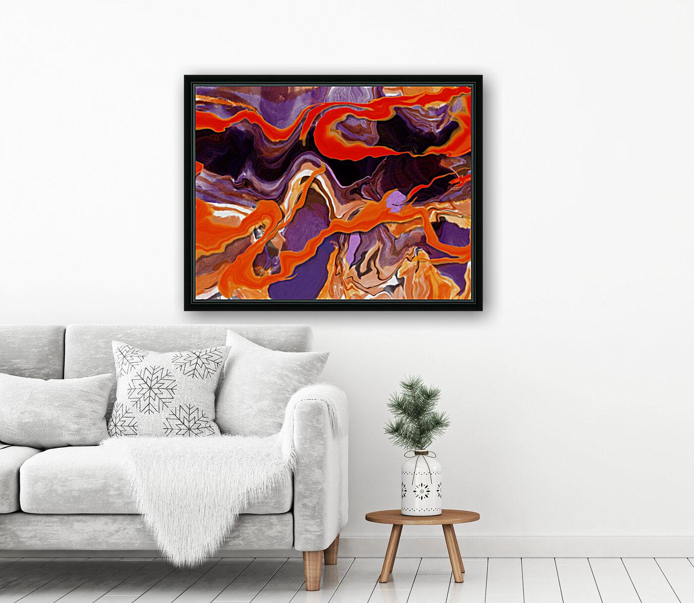 Flaming Paint Pour  Art