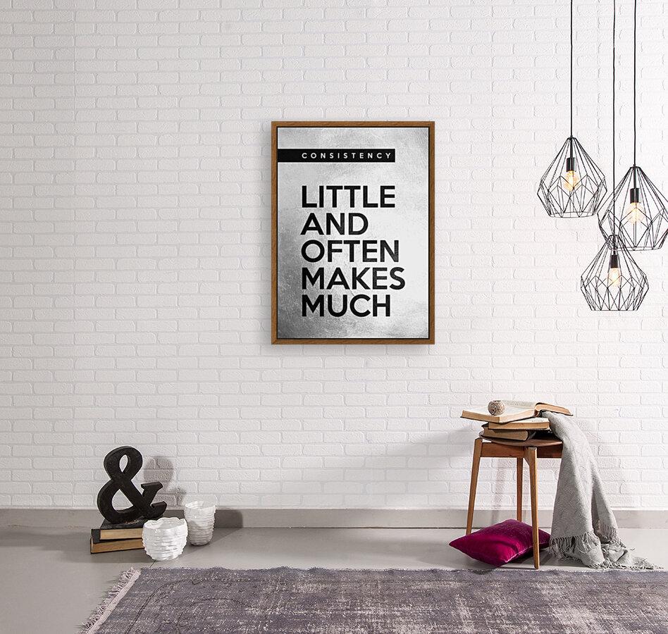 little and often Motivational Wall Art  Art