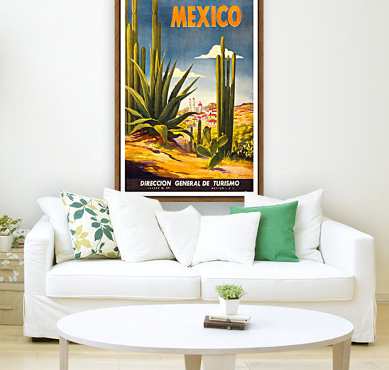Mexico vintage travel poster - VINTAGE POSTER Canvas