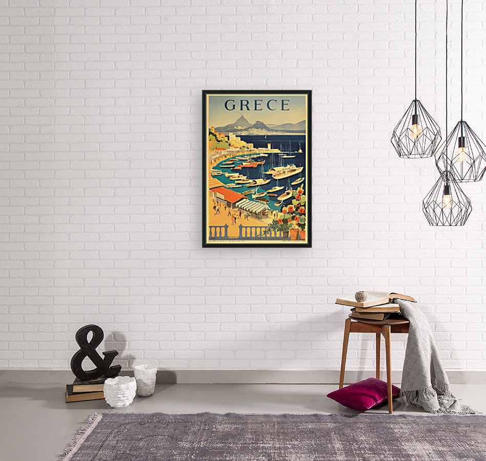Greece original vintage travel poster  Art