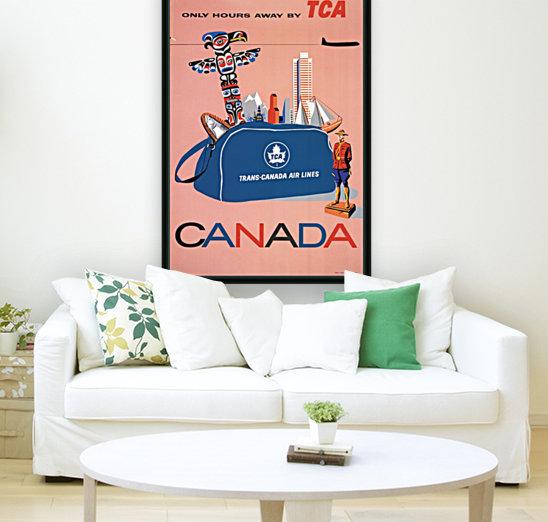 Vintage Toronto travel poster  Art