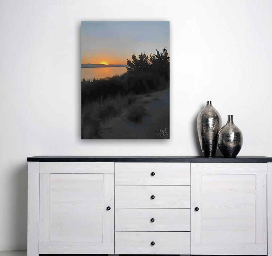 Sunset Over Lake  Art