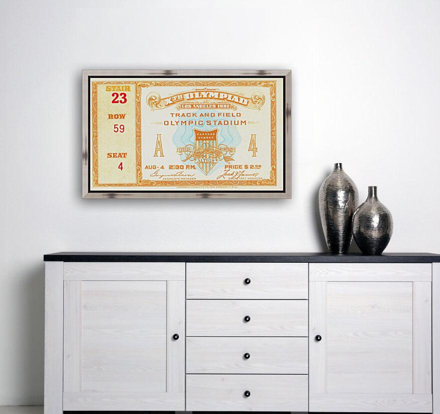 1932 Olympic Track and Field Ticket Stub Art  Art