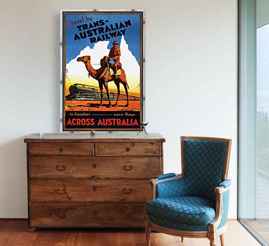 Trans Australian Railway travel poster  Art