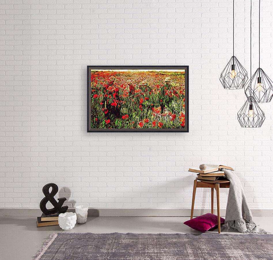 Hidden in the Poppy Fields  Art