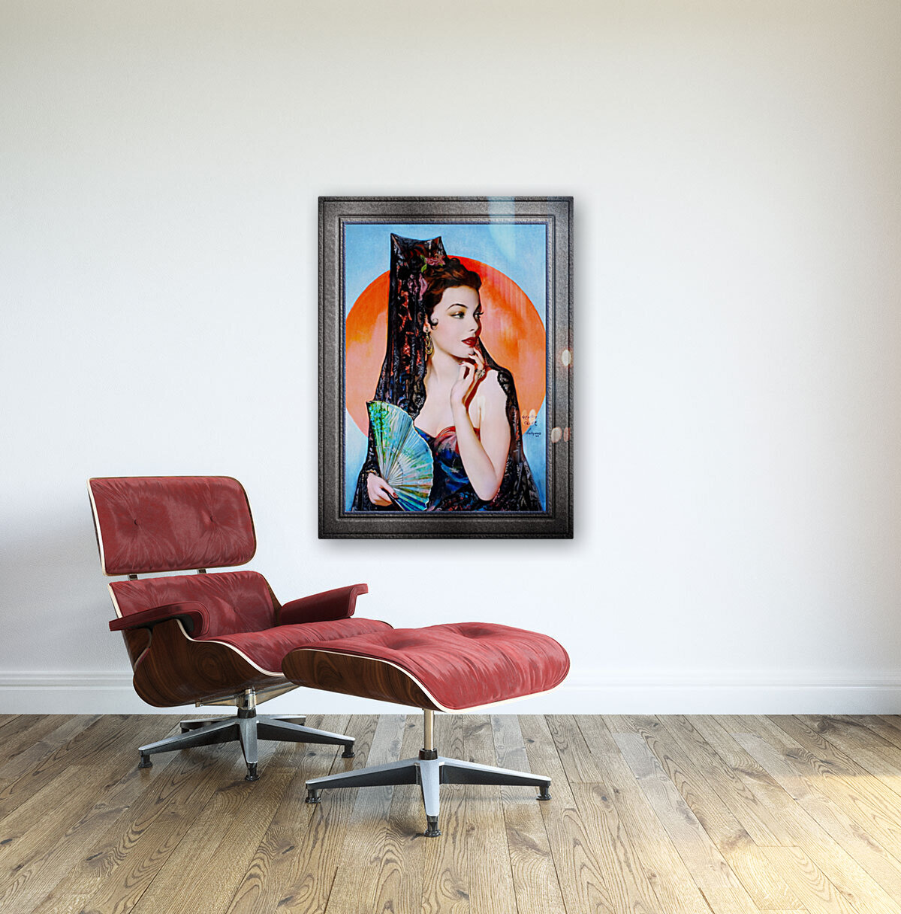 Gene Tierney as Lola Montez by Henry Clive Vintage Xzendor7 Old Masters Art Deco Reproductions  Art